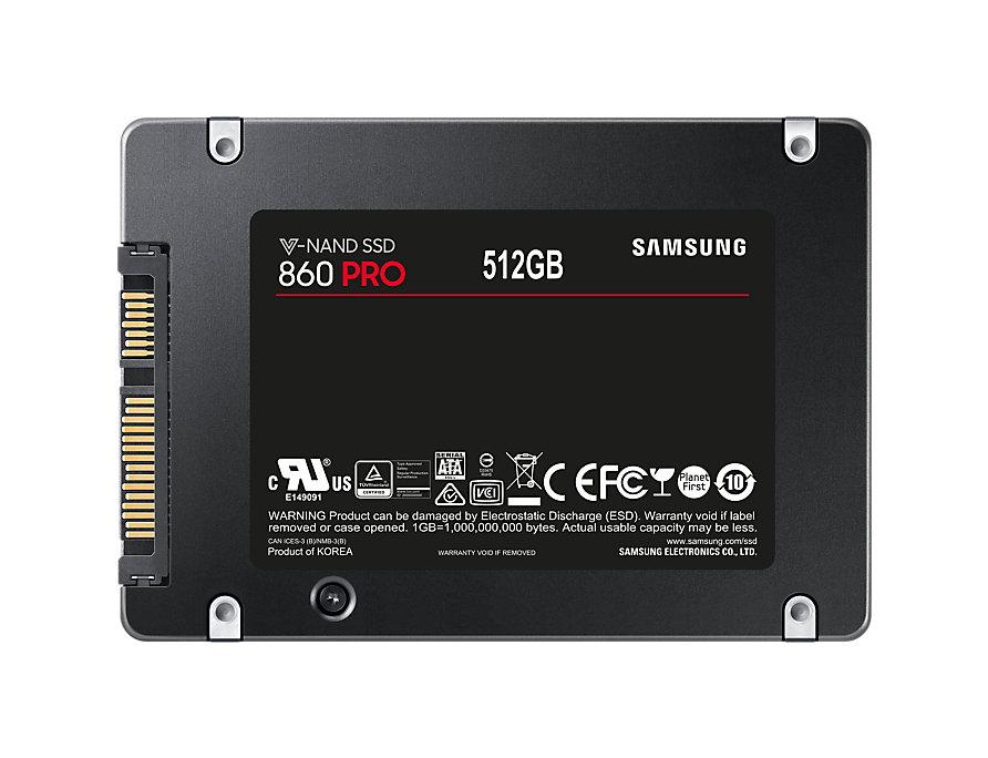 """SSD Samsung 860 PRO 512GB 2.5"""" SATA III"""